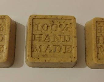 Goats milk coffee and oatmeal soap