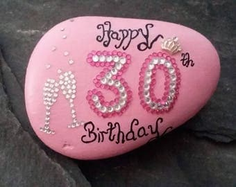 30th celebration stone,30th birthday gifts,30th birthday keepsake,gifts for her,gifts for friends,30th birthday gift token,home decor gifts.