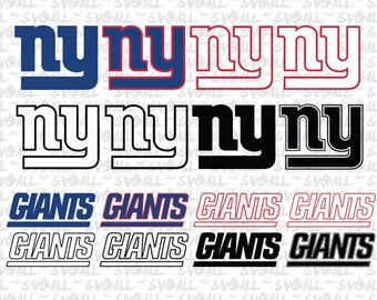 New York Giants Svg Files, New York Giants Png, New York Giants PDF, New York Giants EPS, New York Giants DXF Instant Download