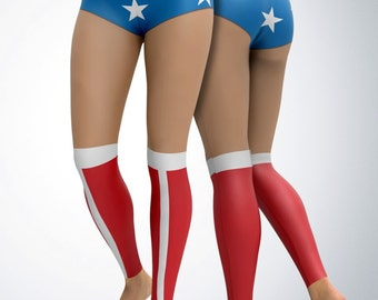 Leggings / Yoga Pants / Yoga Capri - Wonder Woman Leggings