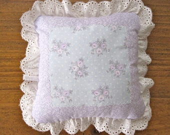 Tooth Fairy Pillow - Tooth Pillow - Girls Pillow - Girls Gift - Mini Pillow - Purple Blue Pillow - Floral Pillow