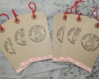 Christmas Gift Tags, Father Christmas, North Pole Special Delivery