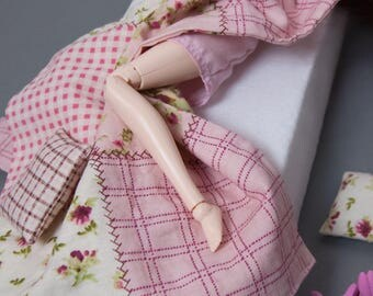 1/6 scale bedding set for doll Pullip, Blythe, Momoko, Dal, Shibajuku Girls, only-of-a-kid