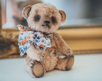 Teddy bear Sunny, OOAK, Artist teddy bear, Handmade teddy bear, Collectible toy, Antique looking bear, Exclusive present, Unique gift