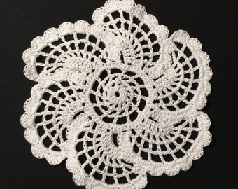 Crochet Doilies(Set of 6),Crochet Cotton Yarn Doilies(Set of 6), Handmade Doilies(Set of 6), Crochet Coasters(Set of 6)