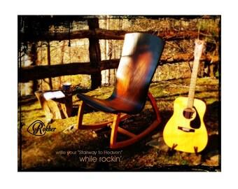 Rocking Chair, Musician's Chair, Musician's Rocker. Rokher - Sunburst with Honey Base