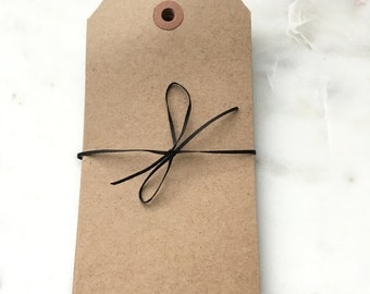 "Extra Large Recycled Natural Brown Kraft Shipping Tags With Reinforced Hang Tags No. 8 - 6 1/4"" X 3 1/8"" - Qty = 50"