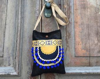 Gypsy festival bag / Hobo slouch bag / bohemian sling bag / Cross body boho bag /unique cross body bag/boho sling bag  Bohemian shoulder bag