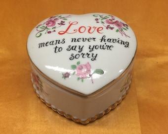Ceramic Heart Keepsake Jar