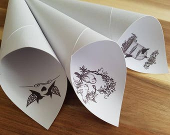 Personalized Wedding Confetti Cones 10/ of pack