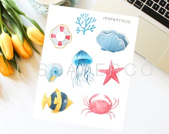 Marine Elements - Bullet Journal Stickers - Planner Stickers - MA001