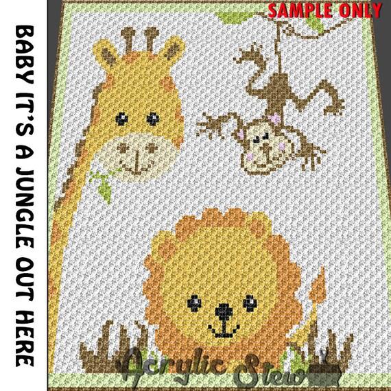Baby Graphgan Pattern Corner To Corner C2c Crochet Baby