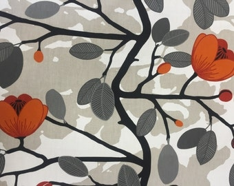 Cotton Fabric,  Magnolia Blossom, Scandinavian Design, Fabric by  the metre