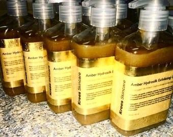 Acne Cleanser - Krees Skincare Amber Hydrosilk Exfoliating Cleanser - Acne Wash - Natural Cleanser - Exfoliating Cleanser - Face Wash