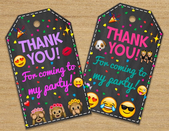 Emoji Thank You For Coming to My Birthday Party