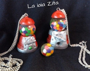 Vintage Chewing Gumball Machine Pendant