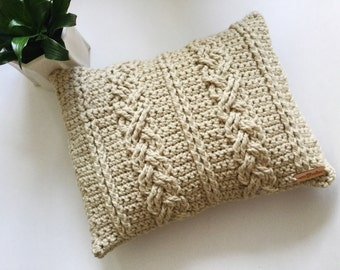 Crochet Cushion Cover~Toasty Twist