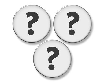 """CUSTOM Fridge Magnet Set - Any 3 Large 2.25"""" Round Magnets"""