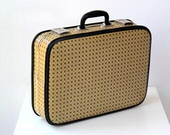 Vintage suitcase, Soviet suitcase, Retro Travel Case Luggage bag, USSR suitcase, Briefcase, Decoration suitcase, Vintage bag, Ornament bag