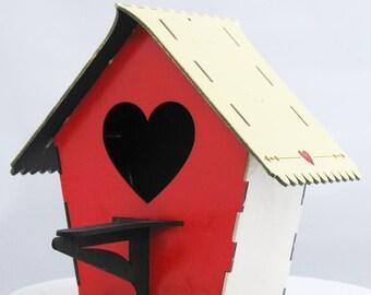 Bird house kit etsy bird house kit heart front solutioingenieria Images