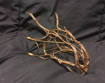 "Copper wire dragon head -  Approx 8""Lx4""Wx3.5""H"