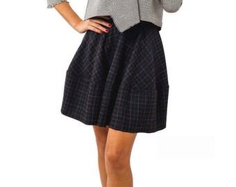 High Waist Skirt, Pleated Skirt, Flared skirt, Short skirt, Circle Skirt,  Rockabilly Skirt, Pin Up Skirt, Office Skirt, full womens skirt