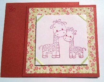 """Child's """"Little Giraffe"""" card"""