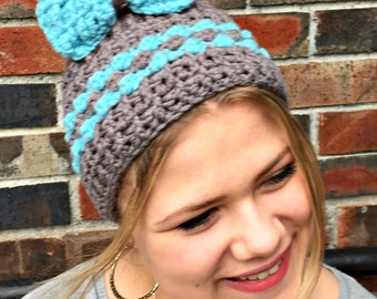 Lily Kate Messy Bun Hat Pattern with Detachable Bow