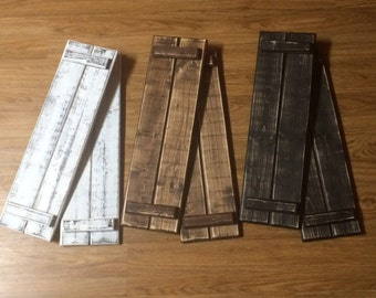 Rustic Distressed Shutters