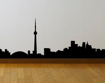 Toronto, Vancouver or Calgary Skyline Large Wall Decals