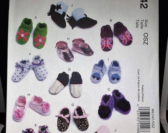 McCall's 6342 - Baby Shoes and Boots Pattern