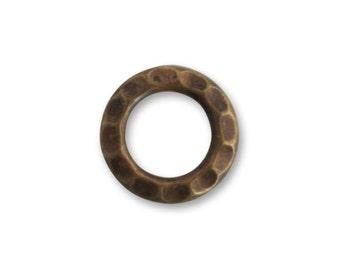 Vintaj Brass Hammered Jump Ring, Brass Jump Ring, Brass Earring Component