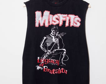 Vintage 1980's Misfits Legacy of Brutality Tank Top | Size Medium