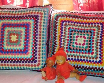 VINTAGE crochet CUSHIONS CROCHET