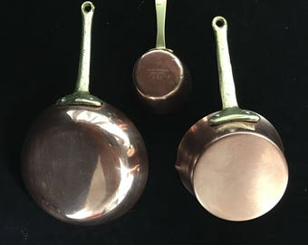 Miniature Copper Cookware Set