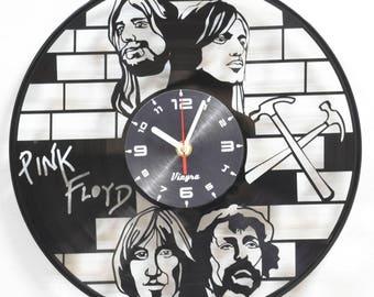 PINK FLOYD Vinyl Clock Pink Floyd Art Modern Clock Home Decor for Living Room Music Lover Gift Wall Clock Record Clock Gift for Him