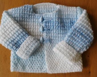 Baby cardigan, Baby boy cardigan, 6-9 months baby cardigan