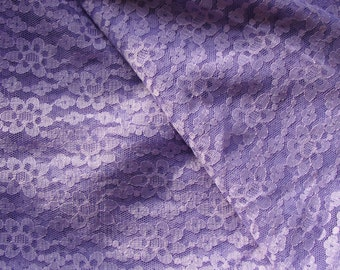 Vintage Guipure Lace. Lilac Fabric. Made in Germany, 1960s