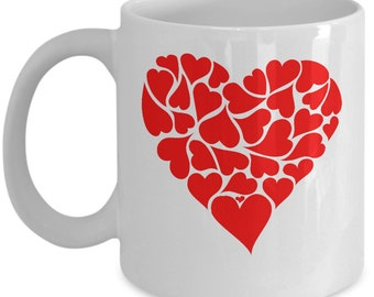 Heart Of Hearts Valentine's Day Coffee Mug - Great Gift For Valentine Lovers, Boyfriends, Girlfriends, Husband and Wife