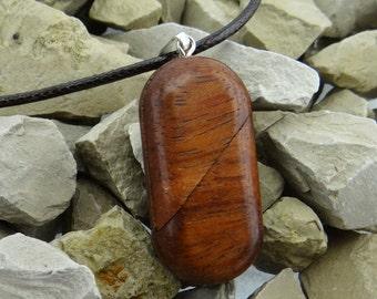 Illusionist Locket Heart Shaped Bubbinga Necklace magic wooden