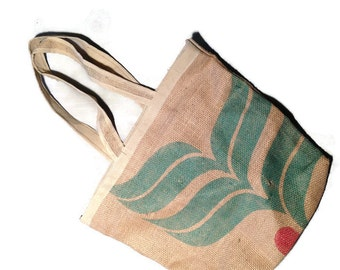 Burlap sack - recycled coffee bag