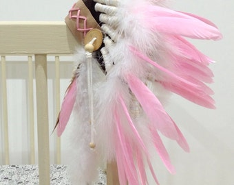 Feather headdress American Indian nursery photo prop