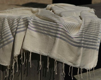 Sale 25% with code Solde25 from 40 euros - Fouta 1mx2m hand woven linen