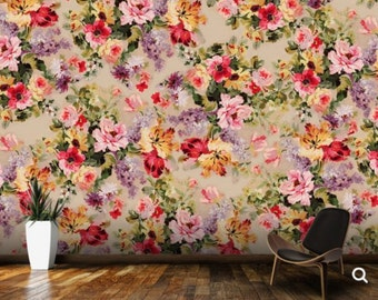 flower wallpaper, flower wall mural, big flower wall decal, big flower wallpaper, texture flower wallpaper, pattern flower, wall decal