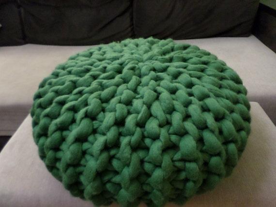 pouf gros fil tricot pouf pouf oursin laine pouf coussin. Black Bedroom Furniture Sets. Home Design Ideas