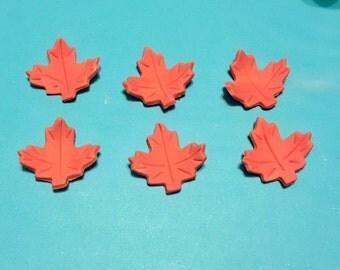 Set of 6 Gum Paste Maple Leaves