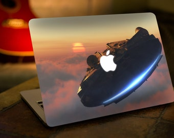 Macbook Decal/ STAR WARS/ Millennium Falcon/ Star Wars Decal/ Star Wars Sticker/ Amazing Decal/ Vinyl Decal/ Geeky Decal/ Laptop Skin -SD025