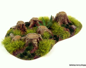 Tree stumps for tabletop and diorama model construction