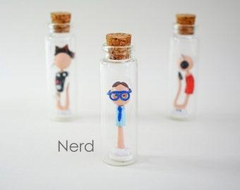 """Sperm Collection """"NERD"""" - Handmade miniature in a jar"""