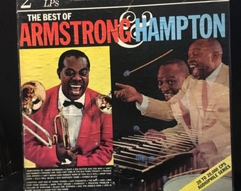 ON SALE Vintage 1970 Best of Armstrong and Hampton Vinyl Record Excellent Condition